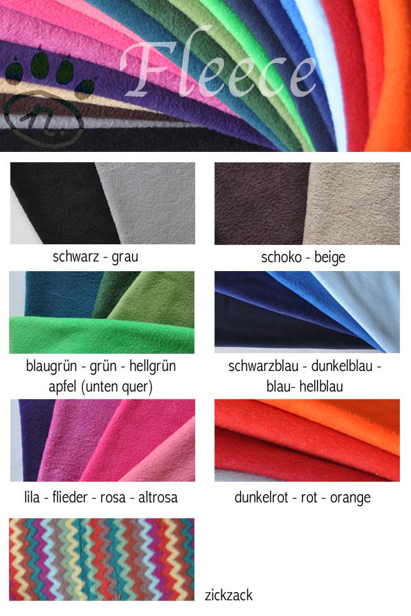 Farbauswahl Fleece