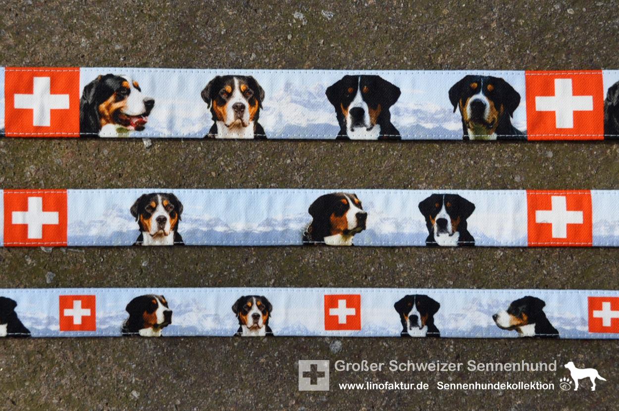 Designs Großer Schweizer Sennenhund von oben nach unten: Breite 38mm, 30mm, 25mm