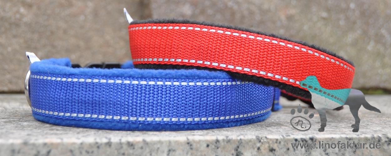 Reflexgurtband in blau und rot