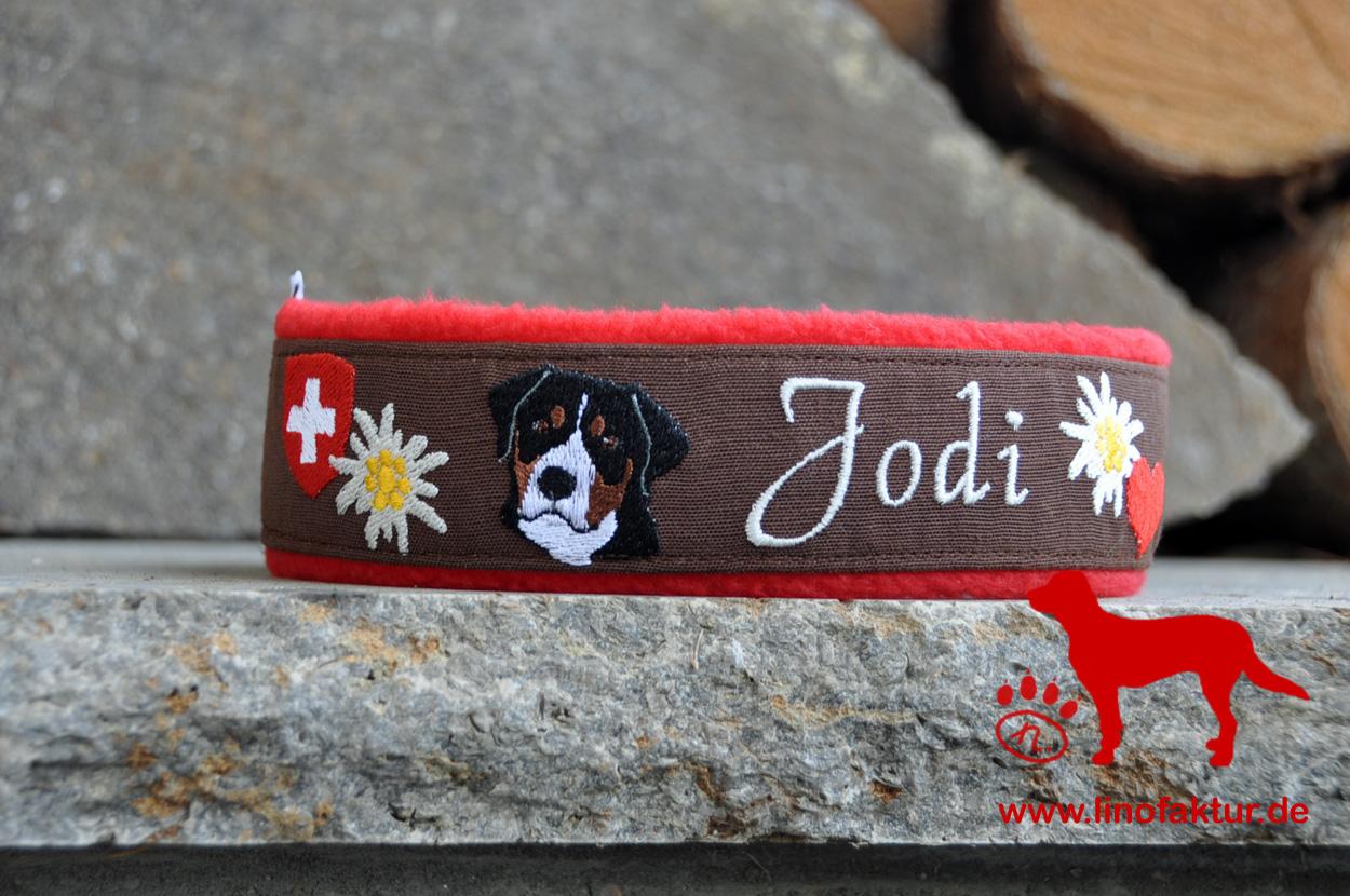 linofaktur Stickerei Großer Schweizer Sennenhund