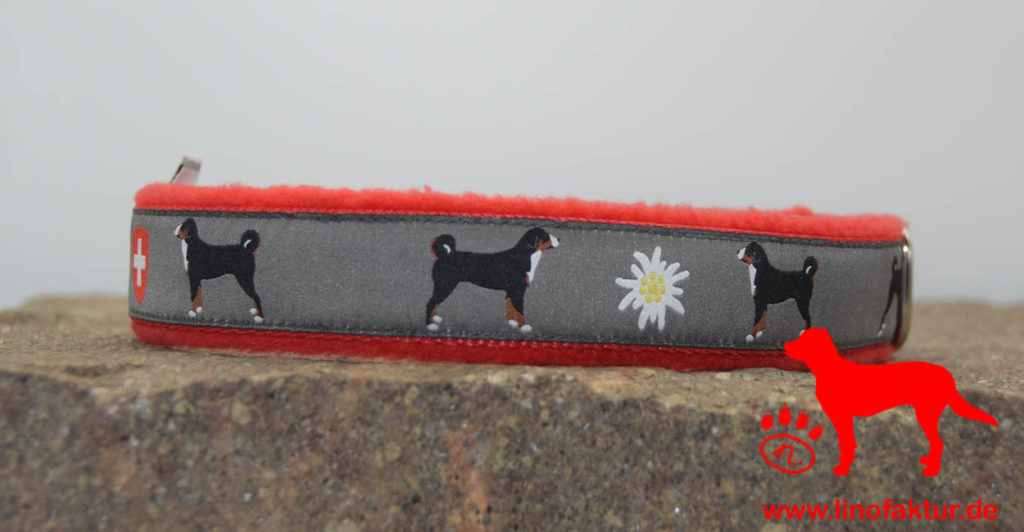 linofaktur: Webband Appenzeller Sennenhund 25mm rot