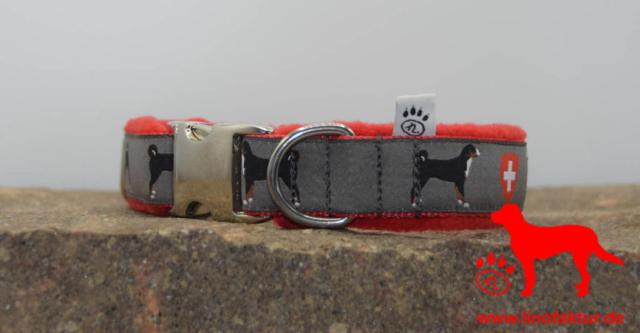 linofaktur: Webband Appenzeller Sennenhund Alu 25mm