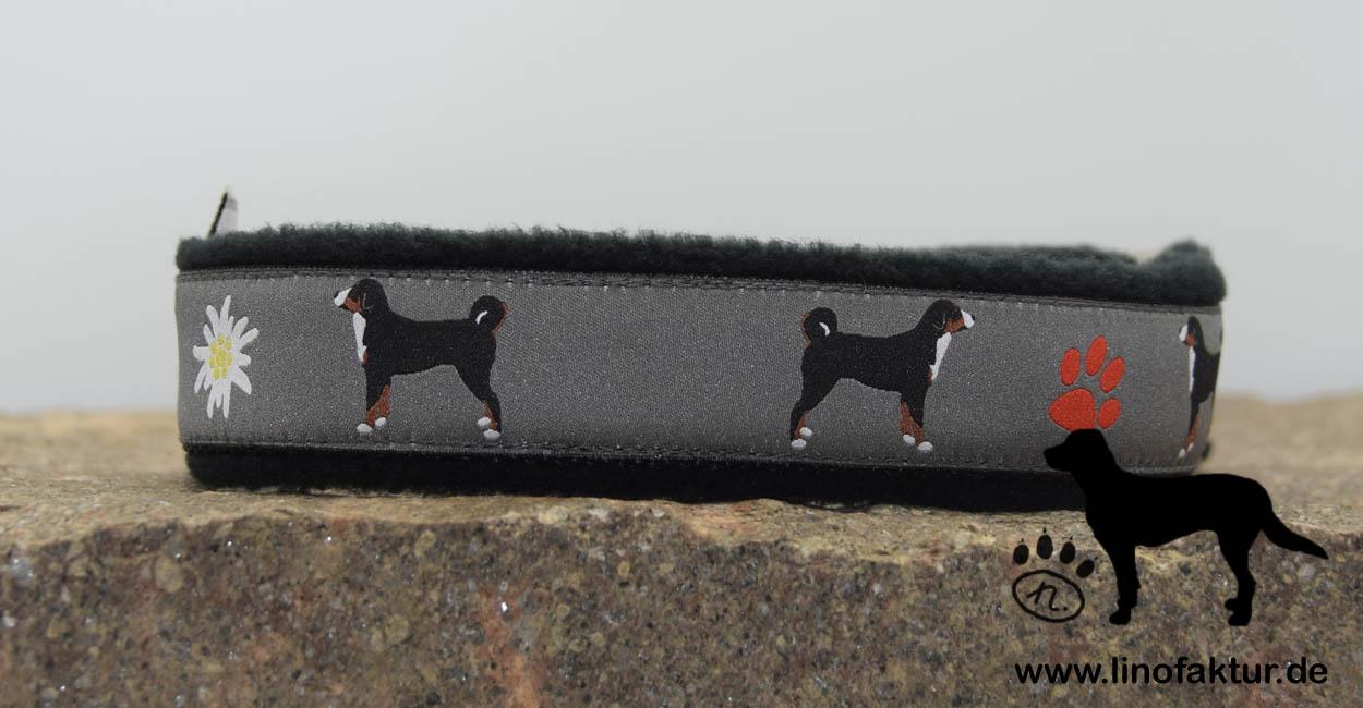 linofaktur: Webband Appenzeller Sennenhund schwarz