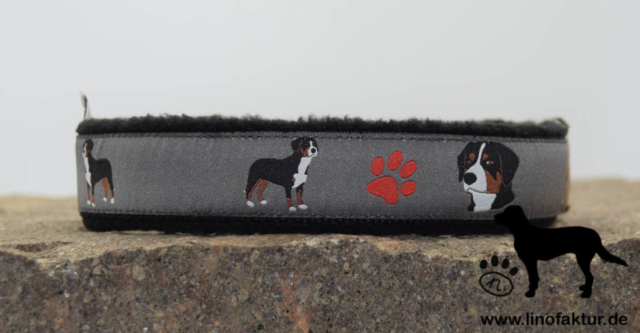 linofaktur: Webband Entlebucher Sennenhund