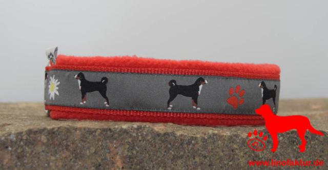 linofaktur: Webband Appenzeller Sennenhund 30mm rot