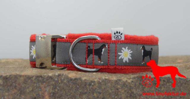 linofaktur: Webband Appenzeller Sennenhund rot
