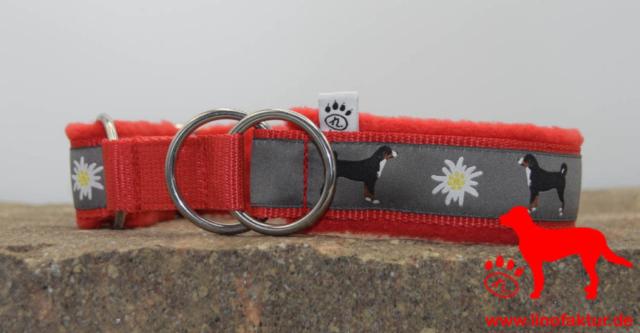 linofaktur: Webband Appenzeller Sennenhund  Zugstopp rot