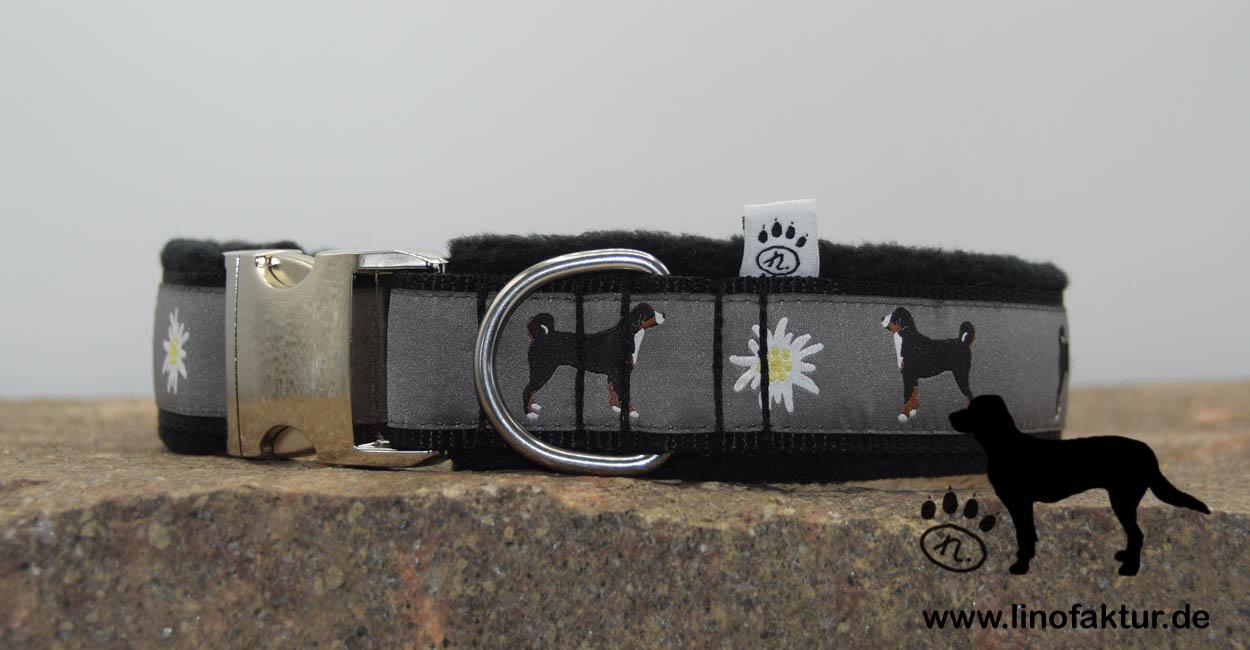 linofaktur: Webband Appenzeller Sennenhund mit Aluschließe