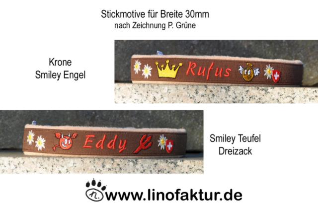 linofaktur Stickmotive Halsbänder